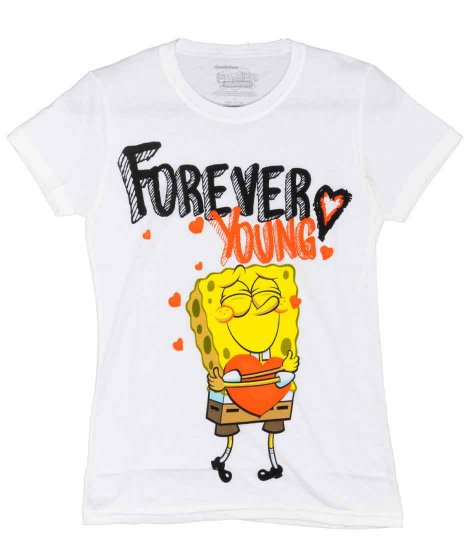 Spongebob アメコミTシャツ フォーエバーヤング<img class='new_mark_img2' src='https://img.shop-pro.jp/img/new/icons37.gif' style='border:none;display:inline;margin:0px;padding:0px;width:auto;' />