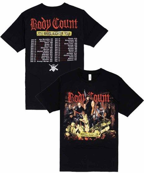 ボディー カウント ( Body Count ) Tシャツ Manslaughter