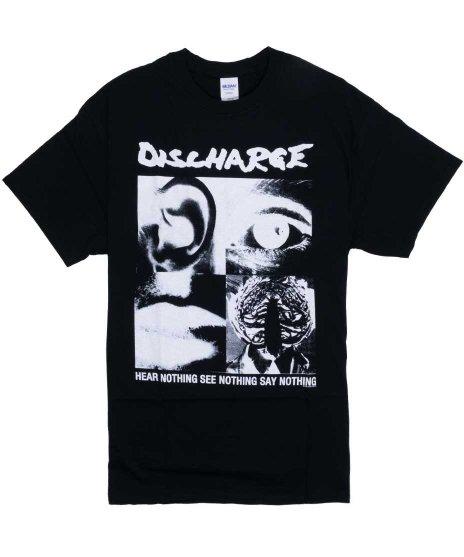 ディスチャージ ( Discharge ) Tシャツ Hear Nothing