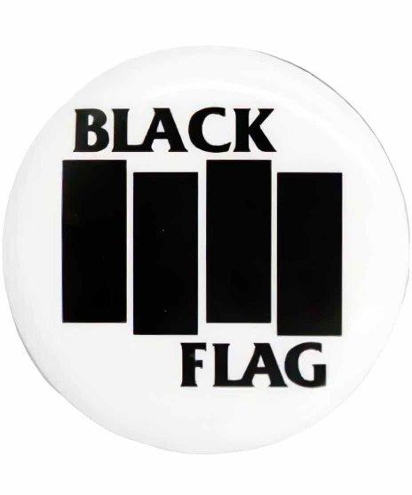 Black Flag(ブラック・フラッグ) バンド缶バッチ ロゴ