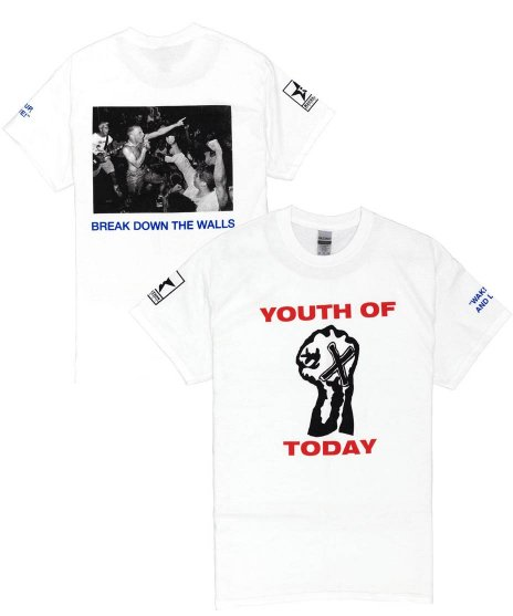 ユース オブ トゥデイ ( Youth Of Today ) Tシャツ Break Down The Walls