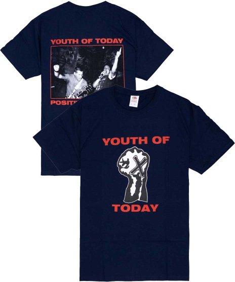 ユース オブ トゥデイ ( Youth Of Today ) Tシャツ Positive Outlook【ネイビー】