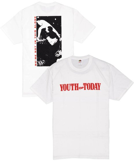 ユース オブ トゥデイ ( Youth Of Today ) Tシャツ We'Re Not In This Alone White