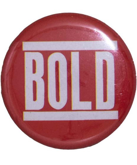 Bold バンド缶バッチ Logo