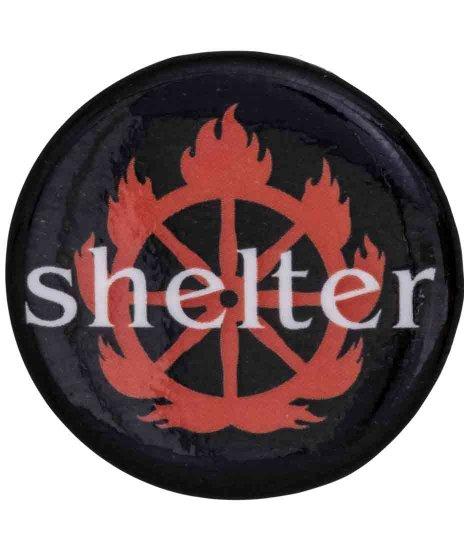 Shelter バンド缶バッチ Logo