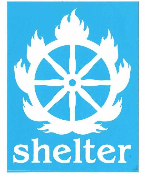 Shelter  バンドステッカー ロゴ