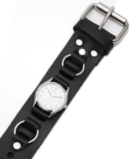 レザーブレスレットタイプ腕時計バンド WB2R リング付き時計タイプ