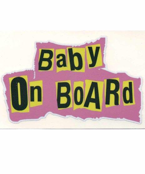 BABY IN CARステッカー。ピストルズのロゴ風