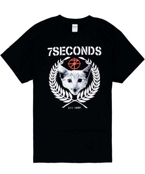 7セカンズ ( 7Seconds ) Tシャツ Rudie ( 猫のデザイン )
