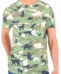ネコ デザインTシャツ キャットカモフラージュ メンズサイズ