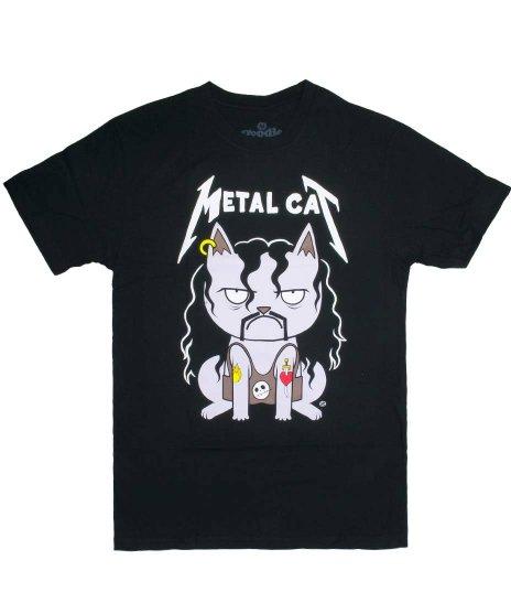 ネコ デザインTシャツ メタルキャット メンズサイズ