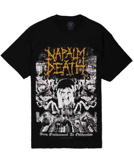 ナパーム デス ( Napalm Death ) Tシャツ From Enslavement To Obliteration