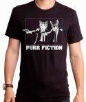 ネコ デザインTシャツ パルプフィクション風 ( Purr Fiction )  メンズサイズ