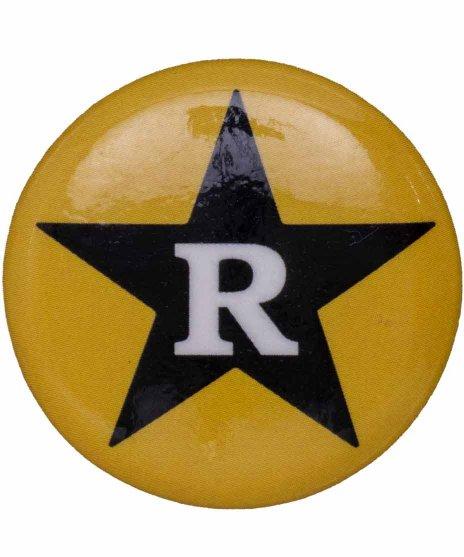 Revelation Records バンド缶バッチ Yellow Starラージ