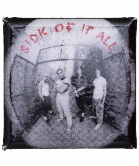 シック オブ イット オール ( Sick Of It All )  バンド缶バッジ スクエア