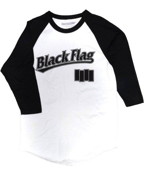 Black Flag(ブラック・フラッグ) Tシャツ ( 7分丈 ) ベースボールシャツ