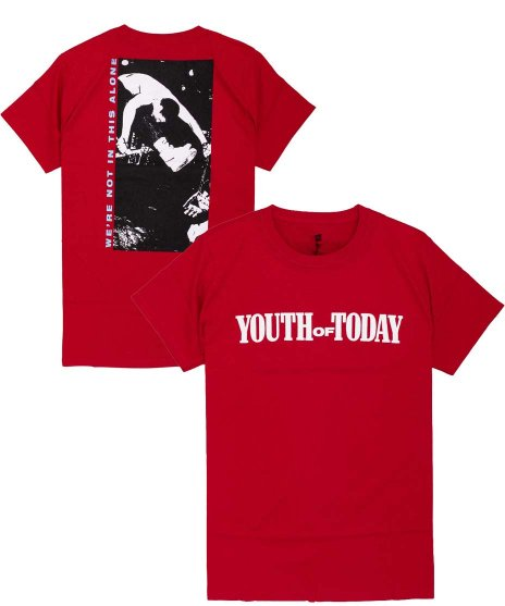 Youth Of Today ( ユース オブ トゥデイ ) Tシャツ We'Re Not In This Alone