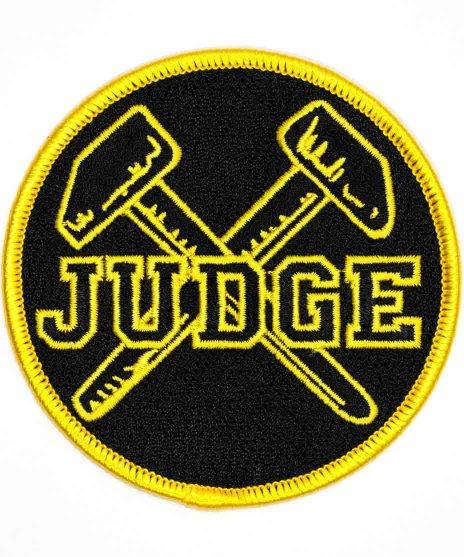 Judge 刺繍バンドワッペン ロゴ
