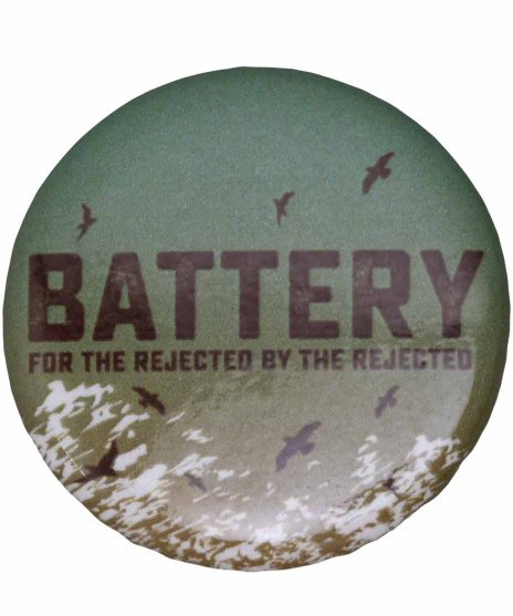 Battery バンド缶バッジ Cover Artwork