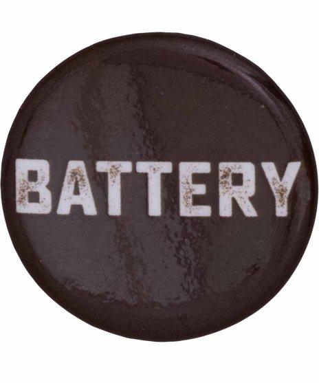 Battery バンド缶バッジ バンドロゴ
