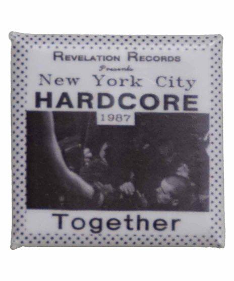 Revelation Records バンド缶バッチ New York City Hardcore 1987アートワーク