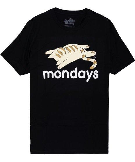 ネコ デザインTシャツ MONDAYS メンズサイズ