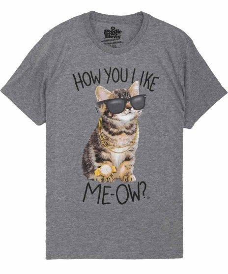 ネコ デザインTシャツ How you like Me-ow メンズサイズ