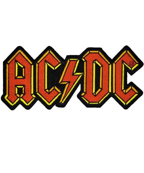 AC/DC 刺繍バンドワッペン バンドロゴ 大