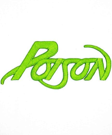 Poison(ポイズン) バンドワッペン グリーンロゴ
