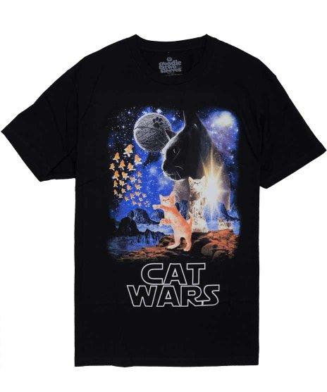 ネコ デザインTシャツ Cat Wars メンズサイズ