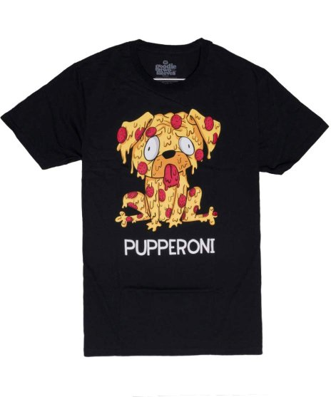 犬のTシャツ ペパロニ  メンズサイズ