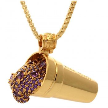 キングアイス KINGICE Jungl Julz 18K Gold Purple Drank Necklace  ACCESSORIES アクセサリー