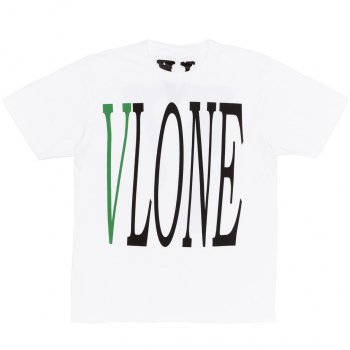 <img class='new_mark_img1' src='//img.shop-pro.jp/img/new/icons15.gif' style='border:none;display:inline;margin:0px;padding:0px;width:auto;' />ブイロン VLONE Staple T-Shirt (White/Green) Tシャツ(ホワイト/グリーン)/S/S T-SHIRTS Mサイズ