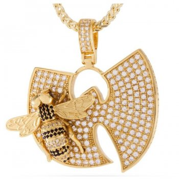 キングアイス KINGICE Wu-Tang Clan×King Ice-The Killa Beez Necklace GOLD ACCESSORIES アクセサリー
