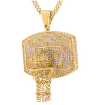 <img class='new_mark_img1' src='//img.shop-pro.jp/img/new/icons15.gif' style='border:none;display:inline;margin:0px;padding:0px;width:auto;' />キングアイス KINGICE The Basketball Necklace GOLD ACCESSORIES アクセサリー