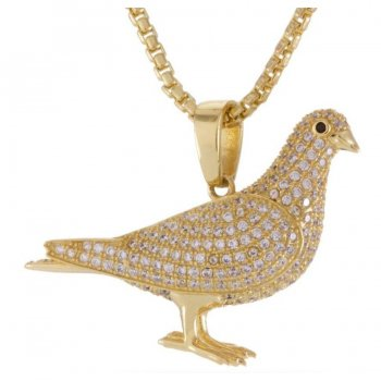 キングアイス KINGICE King Ice×Staple Pigeon Iced Out Pendant GOLD ACCESSORIES アクセサリー