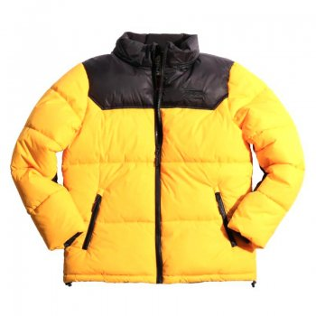 スモークライズ SMOKE RISE NYLON COLOR BLOCK BUBBLE JACKET ジャケット YELLOW イエロー JACKET 2XLサイズ
