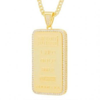 キングアイス KINGICE The 14K Gold Kilo Bar Necklace ACCESSORIES