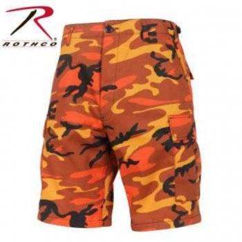<img class='new_mark_img1' src='//img.shop-pro.jp/img/new/icons15.gif' style='border:none;display:inline;margin:0px;padding:0px;width:auto;' />ロスコ ROTHCO Colored Camo BDU Shorts ショーツ Savage Orange Camo オレンジカモ SHORT PANTS Sサイズ