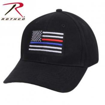 <img class='new_mark_img1' src='//img.shop-pro.jp/img/new/icons15.gif' style='border:none;display:inline;margin:0px;padding:0px;width:auto;' />ロスコ ROTHCO Thin Blue Line & Red Line Low Profile Flag Cap ロウプロ キャップ Black ブラック CAP