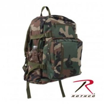 <img class='new_mark_img1' src='//img.shop-pro.jp/img/new/icons15.gif' style='border:none;display:inline;margin:0px;padding:0px;width:auto;' />ロスコ ROTHCO Woodland Camo Backpack バックパック リュック Woodland Camo カモ BAG