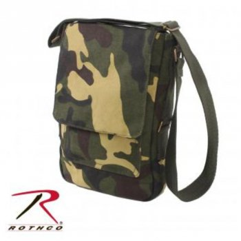 <img class='new_mark_img1' src='//img.shop-pro.jp/img/new/icons15.gif' style='border:none;display:inline;margin:0px;padding:0px;width:auto;' />ロスコ ROTHCO Vintage Canvas Military Tech Bag バッグ Woodland Camo カモ BAG