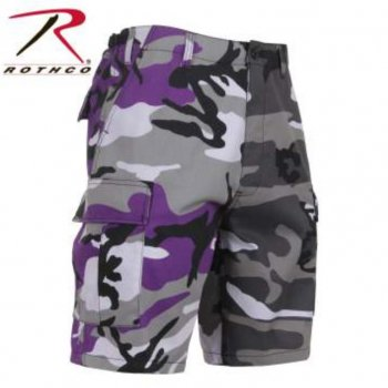 <img class='new_mark_img1' src='//img.shop-pro.jp/img/new/icons15.gif' style='border:none;display:inline;margin:0px;padding:0px;width:auto;' />ロスコ ROTHCO Two-Tone Camo BDU Shorts ショーツ Ultra Violet Purpre/City Camo カモ SHORT PANTS Sサイズ