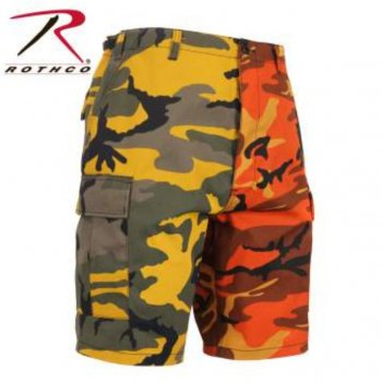 <img class='new_mark_img1' src='//img.shop-pro.jp/img/new/icons15.gif' style='border:none;display:inline;margin:0px;padding:0px;width:auto;' />ロスコ ROTHCO Colored Camo BDU Shorts ショーツ Stinger Yellow/Savage Orange Camo カモ SHORT PANTS Mサイズ