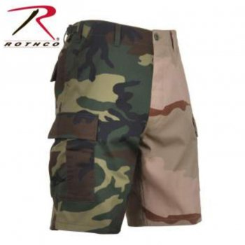 <img class='new_mark_img1' src='//img.shop-pro.jp/img/new/icons15.gif' style='border:none;display:inline;margin:0px;padding:0px;width:auto;' />ロスコ ROTHCO Two-Tone Camo BDU Shorts ショーツ Woodland/Tri-Color Camo カモ SHORT PANTS Sサイズ