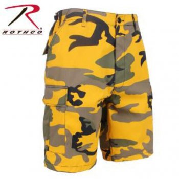 <img class='new_mark_img1' src='//img.shop-pro.jp/img/new/icons15.gif' style='border:none;display:inline;margin:0px;padding:0px;width:auto;' />ロスコ ROTHCO Colored Camo BDU Shorts ショーツ Stinger Yellow Camo スティンガーイエローカモ SHORT PANTS Sサイズ