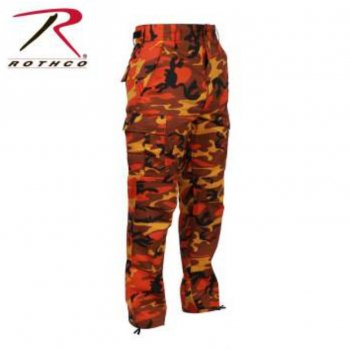 ロスコ ROTHCO Color Camo Tactical BDU Pants パンツ Savage Orange Camo オレンジカモ PANTS Sサイズ