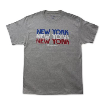 チャンピオン CHAMPION NEW YORK REPEAT TEE Tシャツ GREY グレー S/S T-SHIRTS Lサイズ