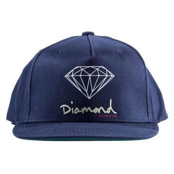 ダイアモンドサプライ DIAMOND SUPPLY CO. OG SIGN SNAPBACK キャップ NAVY ネイビー CAP