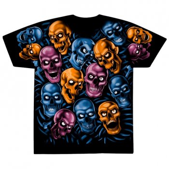 リキッドブルー LIQUID BLUE SKULL PILE - 'GEL PACK HOOKUP' Tシャツ BLACK ブラック S/S T-SHIRTS
